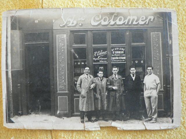 Augustin Colomer, le bossu Raymond, Lucien Bonafos, et deux autres ouvriers