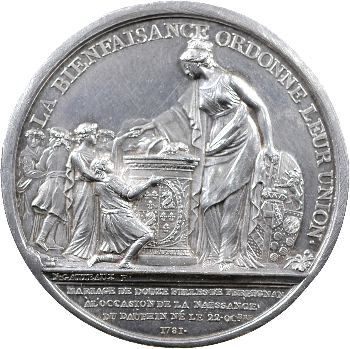 Médaille de 1781 pour les 12 mariages de Perpignan.