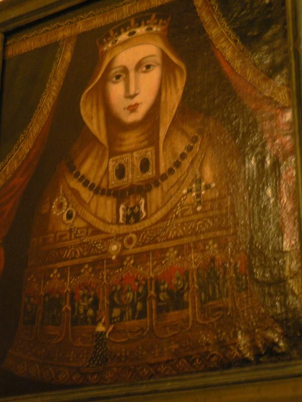 reliquaire avec de nombreux médaillons, tableau, Museon Arlaten, Arles.