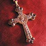 Croix de Mgr Izart en Grenat de Perpignan, début du XXe s.
