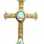 Croix Mgr Patau hors de son support. Institut st Louis de gonzague Peprignan