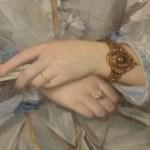 Léonie Bardou Amiel, détail du bracelet.