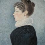miniature: femme au peigne, vers 1825, Perpignan.