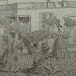 gravure humoristique de 1834 à Barcelone paru dans Feminal 1909