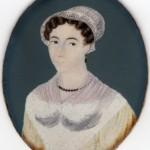 Miniature, portrait de Mme Bezombes, vers 1820, Roussillon.