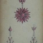 Projet de parure, carnet Charpentier, Casa Pairal, Perpignan