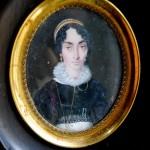 portrait de femme avec diadème, vers 1820, vente ebay