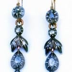 Boucles d'oreilles roussillonnaises bimétalliques, milieu XIXe s.