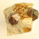Grenats Pyr. Orientales Coll. Club minéralogique catalan cristaux 1.5 cm