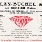 carte publicitaire années 1930
