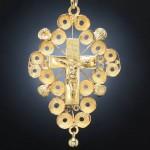 Croix boulonnaise en or, milieu XIX e s.