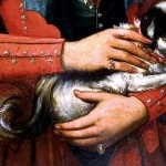 Détail des bagues, portrait de jeune femme au chien, fin XVIIIe s. Mairie de Port-Vendres.