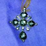 Croix badine argent et roses de diamant, Perpignan, 18e s.
