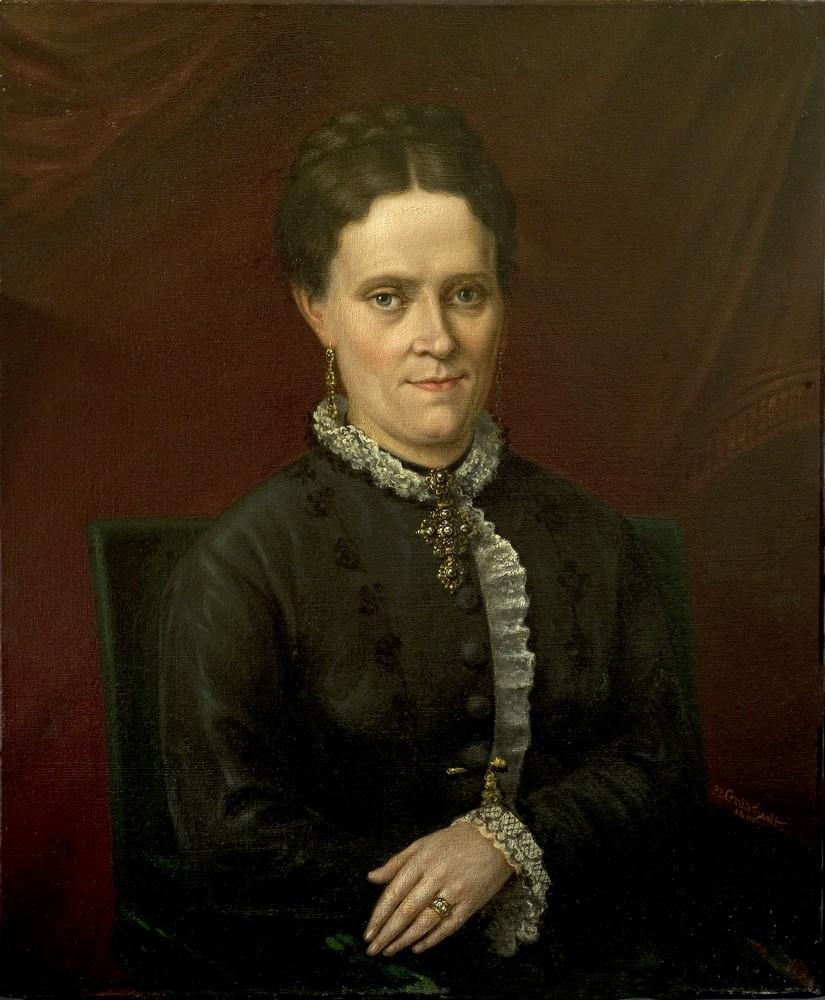 Portrait de femme en bijoux traditionnels, 1880. Portrait de femme, Il est signé de Pierre Eugène GUERITHAULT, peintre talentueux originaire de Poitiers