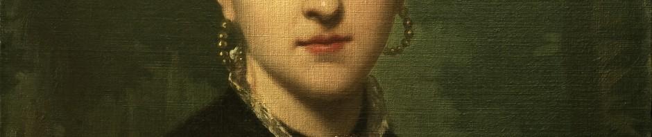 Portrait à l'huile de Clara Salamo, signé A. Legras, Paris 1880.