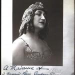 Portrait de comédienne, 1925, archives Campanaud, Perpignan.