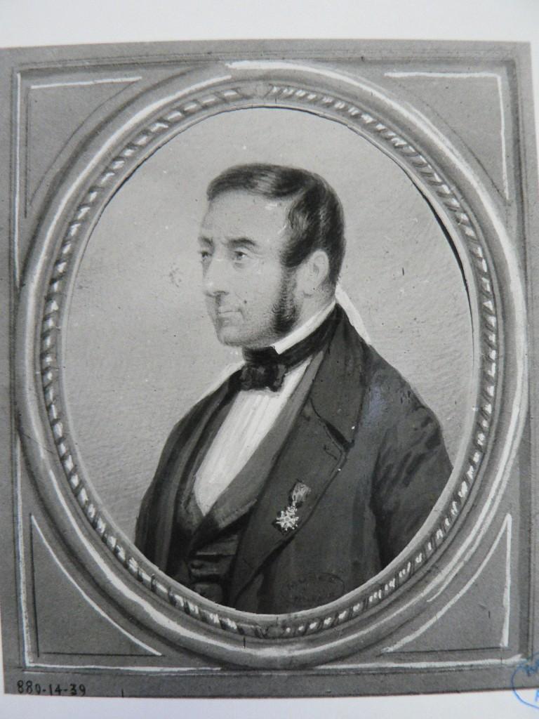 Portrait de Gallay, joueur de cor, par Guiraud, vers 1850.