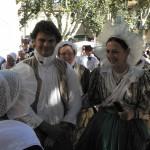 Costumes marseillais Restauration, coiffe à la frégate Trets 2010