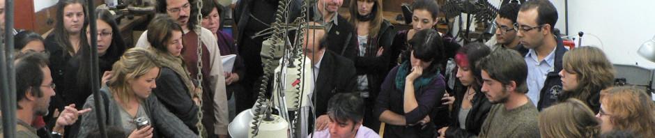 Démonstration de technique ancestrale au sein de l'escola Massana de Barcelone