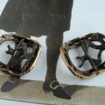 revers des boucles de soulier XVIIIe s. shoe buckles