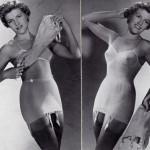 deux chiquitas, photos publicitaire pour les gaines Chiquita 1954