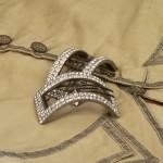Boucles de souliers en argent et cristal de roche, XVIIIe s.
