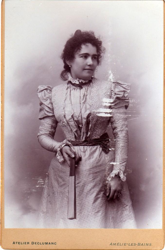 Portrait de femme, Amélie les Bains, vers 1895.