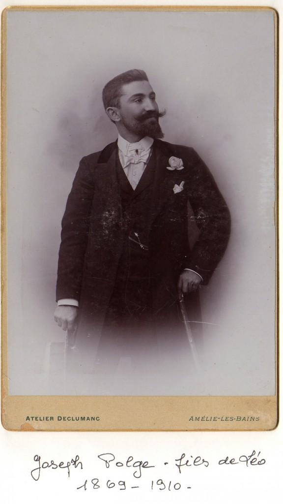 Portrait d'homme, Roussillon, vers 1895.