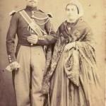 Couple de Roussillonnais, Perpignan, vers 1865.