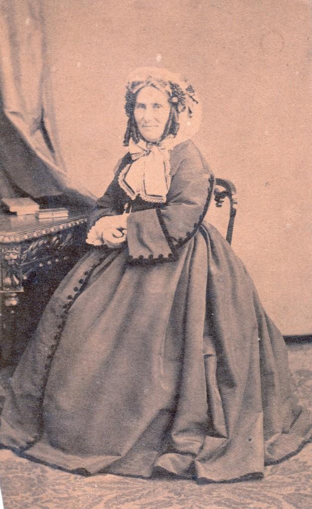 portrait de femme agée, photo Ghevar frères, Bruxelles, vers 1865.