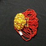 Bracelet or et corail, fin 18eme, vente Pontivy 6 06 2010