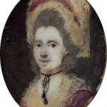 miniature, portrait de femme en coiffe, Perpignan, vers 1775