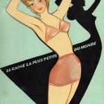 plaquette gaine Chiquita 1953 Perpignan