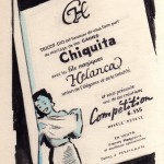 projet encre de chine campagne 1955 gaine Chiquita Perpignan