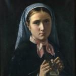 tricoteuse , tableau du Musée de Poitiers