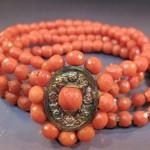 bracelet de vermeil et corail, début 19e s., vente sens dec 2009