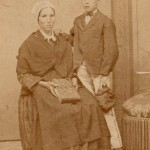 Portrait d'une mère et de son enfant, photo Bissiere, Perpignan, vers 1860