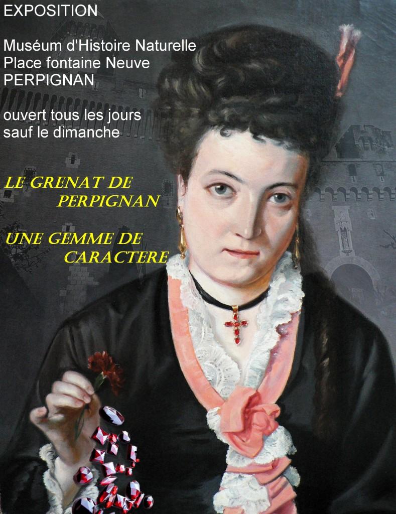 Affiche expo Grenat au Museum de Perpignan
