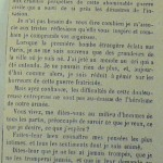 """Lettre du Comte de Chambord dans le journal """"Le Roussillon"""" le 17 mai 1871."""