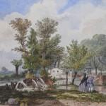 La Fontaine d'Amour à Perpignan, Jules Vignol, 1860.