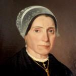 Portrait de femme en coiffe catalane, Perpignan.