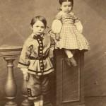 Portrait de deux enfants, Perpignan, vers 1860