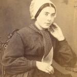 Portrait de jeune femme en coiffe catalane, Perpignan, vers 1860