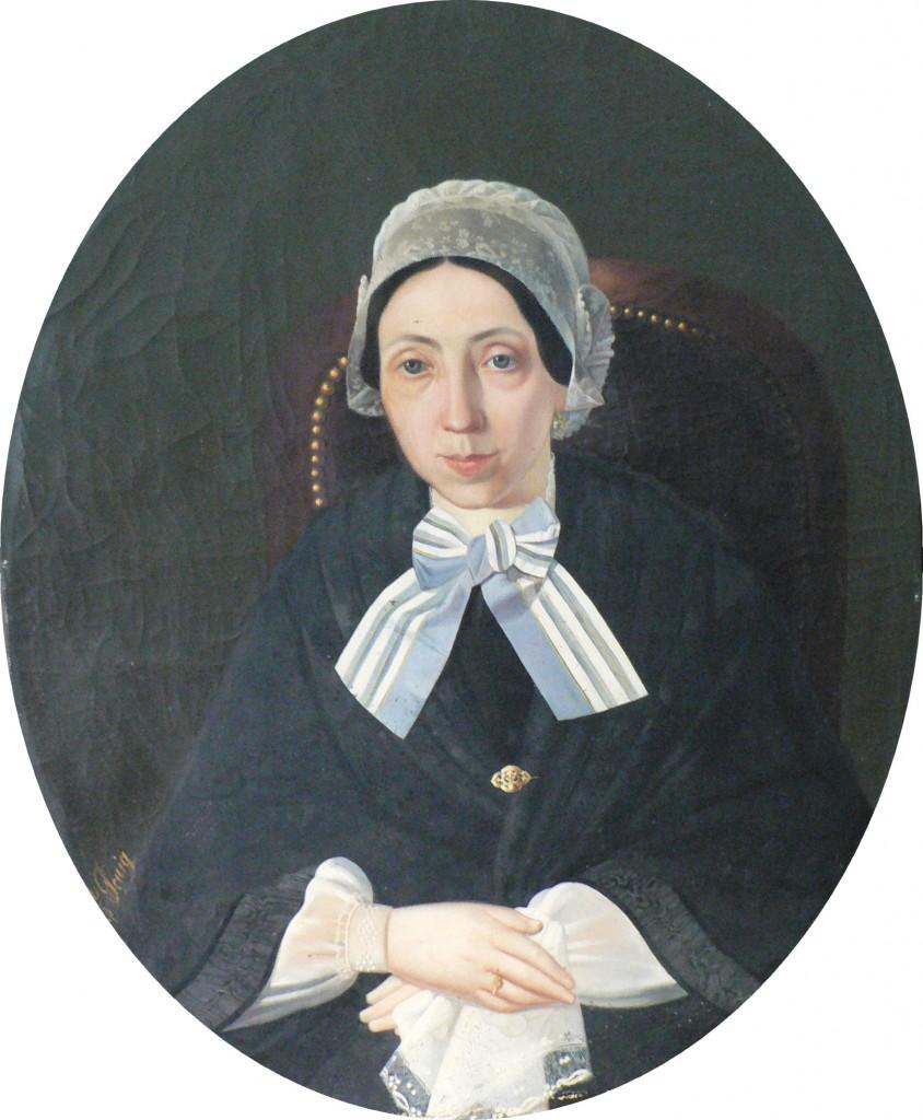 Portrait de mme Charpentier, Perpignan, ves 1850.
