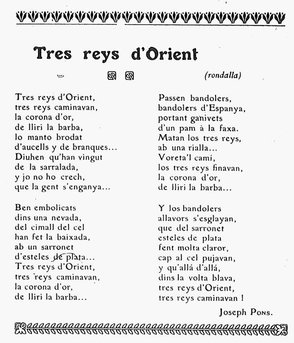 Epiphanie, La revue catalane, 1908