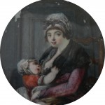 portrait en miniature de Mme Pradal, coll. part.