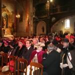 Nombreuse assitance dans l'église saint Mathieu, dec 2010.