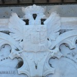 Blason des çagarriga, cimetière Saint Martin, Perpignan.