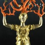 Statue de Daphné pétrifiée, changée en arbre, Ecouen.