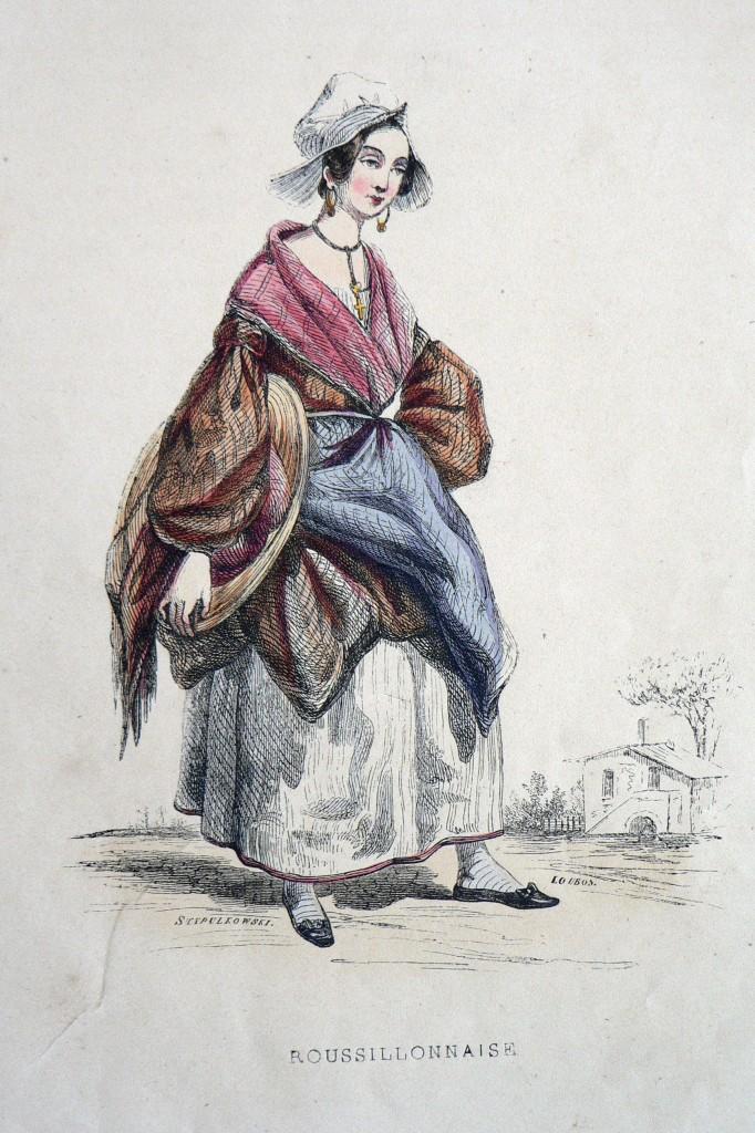 Roussillonnaise gravure de Loubon 1830